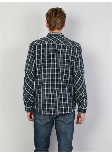 Colin's CL1047146_Q1.V1_NAV  Regular Fit Shirt Neck Erkek Lacivert Uzun Kol Gömlek Lacivert